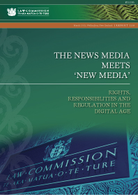 The news media meets 'new media' - Report 128 - Cover